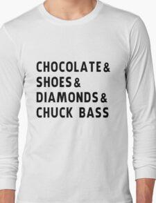 chocolate, shoes, diamonds, chuck bass Long Sleeve T-Shirt