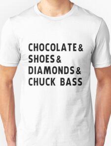 chocolate, shoes, diamonds, chuck bass Unisex T-Shirt