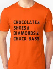 chocolate, shoes, diamonds, chuck bass T-Shirt