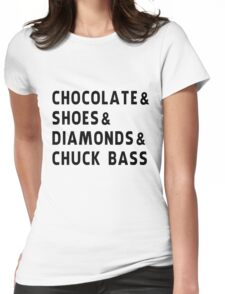 chocolate, shoes, diamonds, chuck bass Womens Fitted T-Shirt