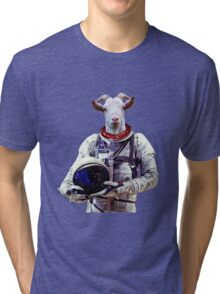 Goat Astronaut In Space Tri-blend T-Shirt