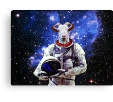 Goat Astronaut In Space Canvas Print