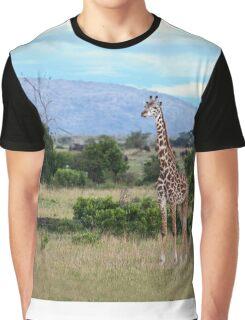 Giraffe on the Masai Mara Graphic T-Shirt
