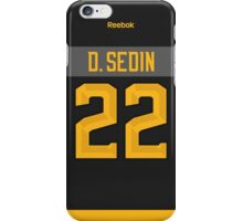 Vancouver Canucks Daniel Sedin NHL All-Star Black Jersey Back Phone Case iPhone Case/Skin