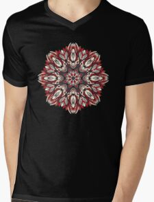 Round floral ornament Mens V-Neck T-Shirt