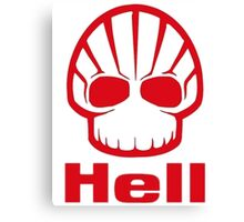 SHELL HELL Oil RED petroleum Gasoline Canvas Print