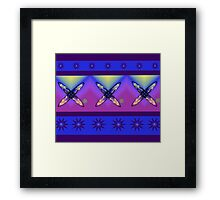 Abstract Cross Design in Bright Colours Framed Print