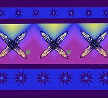 Abstract Cross Design in Bright Colours by Dave Morrison