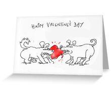 valentine dogs Greeting Card