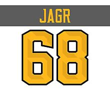 Florida Panthers Jaromir Jagr NHL All-Star White Jersey Back Phone Case by Russ Jericho