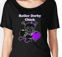 Roller Derby Chick (Purple) Women's Relaxed Fit T-Shirt