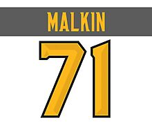 Pittsburgh Penguins Evgeni Malkin NHL All-Star White Jersey Back Phone Case by Russ Jericho