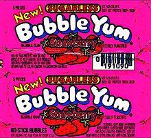 Pink Bubble Yum Kawaii Madness by Caracaracara
