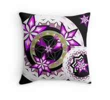 Stars and circles and cube. Throw Pillow