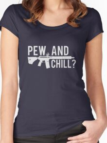 LADIES PEW AND CHILL RACERBACK TANK Women's Fitted Scoop T-Shirt