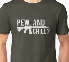 LADIES PEW AND CHILL RACERBACK TANK Unisex T-Shirt