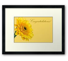 Greeting card with gerberas Framed Print