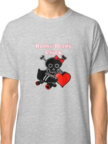 Roller Derby Chick (Red) Classic T-Shirt