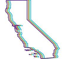 Neon California  Photographic Print