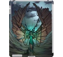 mysterious glow in the hands of a wood demon iPad Case/Skin