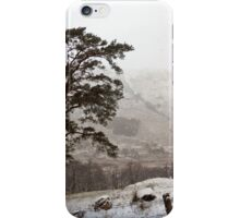 Snow Scene on Glencoe #2 iPhone Case/Skin