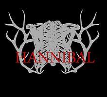 Hannibal rib bone with antlet by morigirl