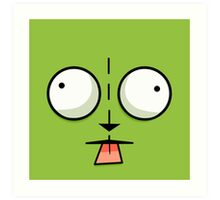 Gir Face - Invader Zim Cartoon Art Print