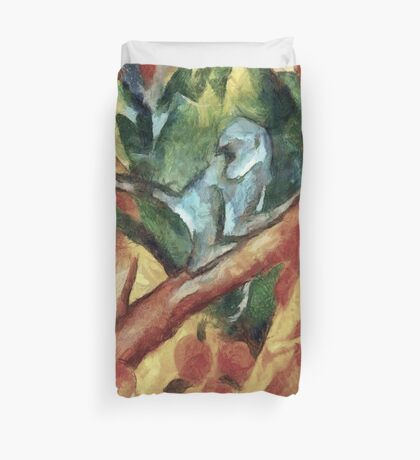 Monkey After Franz Marc, 1912 Duvet Cover