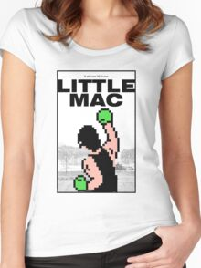 Punch-Out - Little Mac Rocky Poster Women's Fitted Scoop T-Shirt