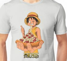Luffi eat Pizza - One Piece Unisex T-Shirt