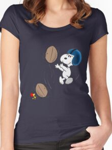 snoopy sport Women's Fitted Scoop T-Shirt