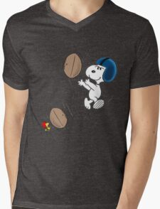 snoopy sport Mens V-Neck T-Shirt