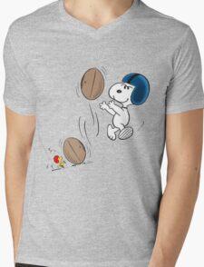 snoopy sport Mens V-Neck T-Shirt