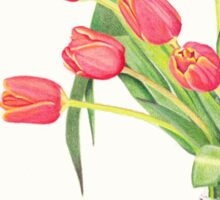 Orange tulips Sticker