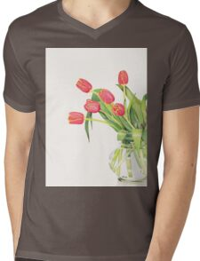 Orange tulips Mens V-Neck T-Shirt