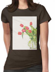 Orange tulips Womens Fitted T-Shirt