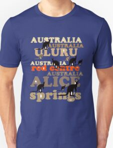 Aussie t-shirt design featuring roos and lettering Unisex T-Shirt