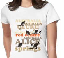 Aussie t-shirt design featuring roos and lettering Womens Fitted T-Shirt