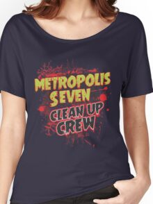 Metropolis Seven Clean Up Crew Women's Relaxed Fit T-Shirt