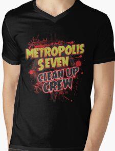 Metropolis Seven Clean Up Crew Mens V-Neck T-Shirt
