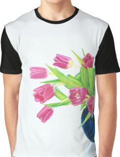 Pink tulips. Graphic T-Shirt