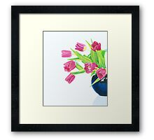 Pink tulips. Framed Print