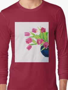 Pink tulips. Long Sleeve T-Shirt