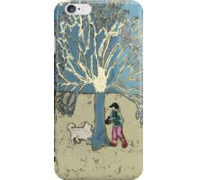 Tree, boy and dog iPhone Case/Skin
