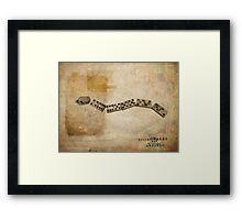 Bitter Snakes and Broken Ladders Framed Print