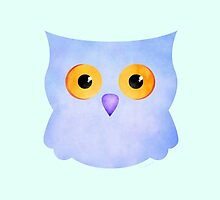 Cute Blue Owl by Bamalam Art and Photography