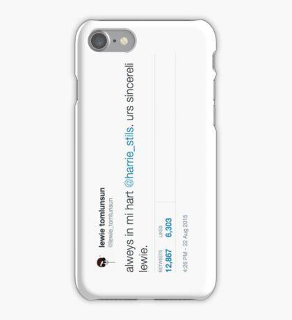 """Always in my Heart"" tweet iPhone Case/Skin"