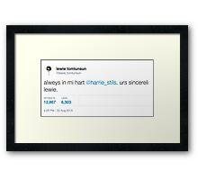 """Always in my Heart"" tweet Framed Print"