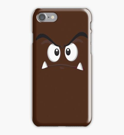 Goomba face ! iPhone Case/Skin