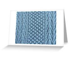 Hand Knitting Pattern Design Greeting Card